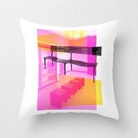 bauhaus Throw Pillows featuring Bauhaus by mJdesign