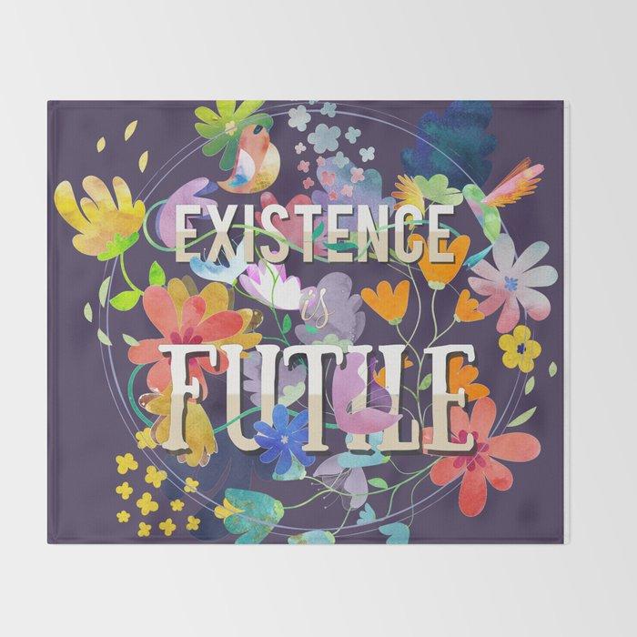 Existence Throw Blanket