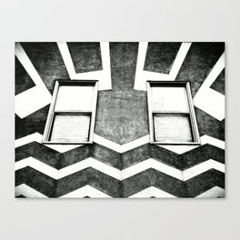 HAPPY HOUSE / B&W Canvas Print