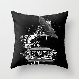 Nostalgic Gramophone Throw Pillow