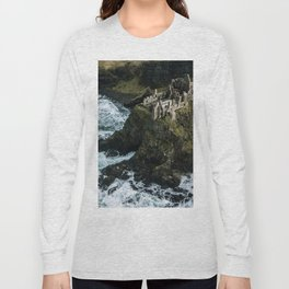 Castle ruin by the irish sea - Landscape Photography Long Sleeve T-shirt