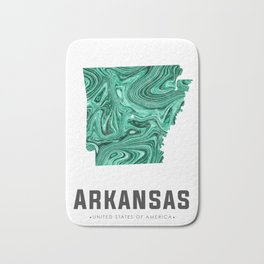 Arkansas - State Map Art - Abstract Map - Green Bath Mat