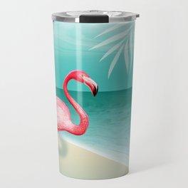 FLAMINGO BEACH | aqua Travel Mug