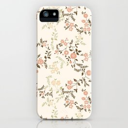 Peach Pink Floral iPhone Case