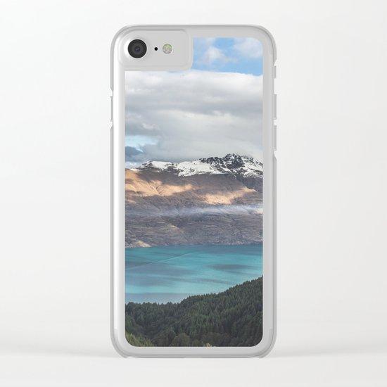 Island clouds Clear iPhone Case