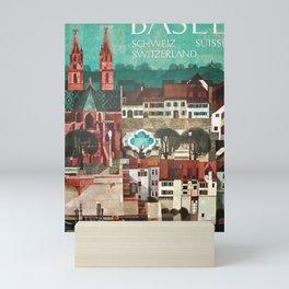 vintage Plakat Basel Mini Art Print