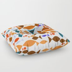 Red Fishes Floor Pillow