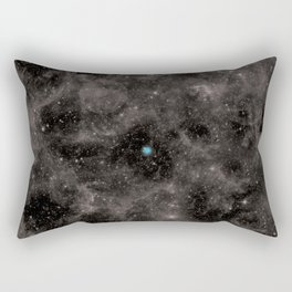 Pale Blue Dot Rectangular Pillow