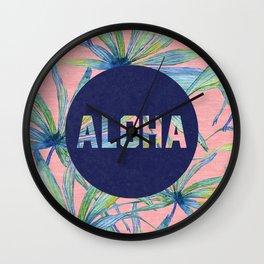 Aloha - pink version Wall Clock