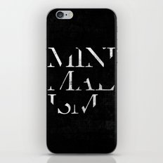 Minimalism iPhone & iPod Skin