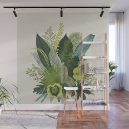 Green Leaves and Life Wall Mural