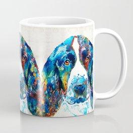 Colorful English Springer Spaniel Dog by Sharon Cummings Coffee Mug