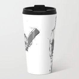 Space Bounty Hunter no background Travel Mug