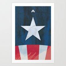 Captain America Minimal Art Print