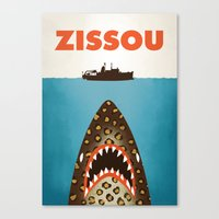 steve zissou Canvas Prints featuring Zissou by Wharton