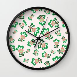 Cabbage Hearts Packed Wall Clock