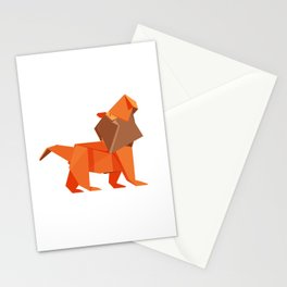 Origami Lion Stationery Cards