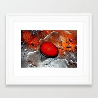 egg Framed Art Prints featuring egg by  Agostino Lo Coco