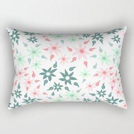 Minty Spring Floral Rectangular Pillow