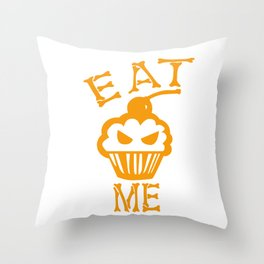 Eat me yellow version Throw Pillow
