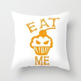 Eat me yellow version Throw Pillow