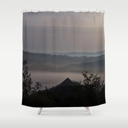 Foggy Summer Morning in France Shower Curtain