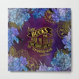 CP - Books Made Me Feel Not Alone (Purple) Metal Print