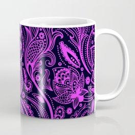 Hot pink and black paisley pattern Coffee Mug