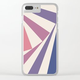 Spinning Squares Palette IIII Clear iPhone Case