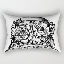 Head On The Moon Rectangular Pillow