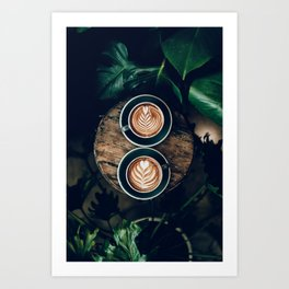 Latte + Plants III Art Print