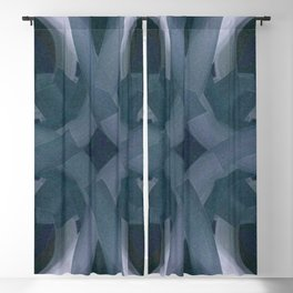 Blue Stars and Bars Blackout Curtain