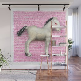 My little foal in a sea of pink Wall Mural