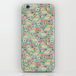 Dachshund longhaired cream doxie floral dog breed pet gift for dachsie lovers must haves iPhone Skin