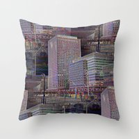 the office Throw Pillows featuring office Dayze by David  Gough
