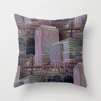 office Throw Pillows featuring office Dayze by David  Gough