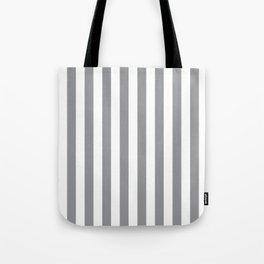 Vertical Grey Stripes Tote Bag