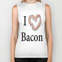 bacon Biker Tanks featuring I -bacon- Bacon by Beatrice