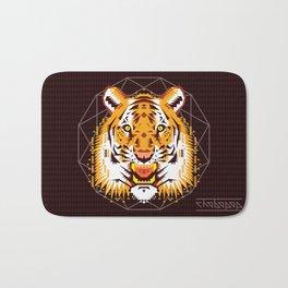 Geometric Tiger Bath Mat