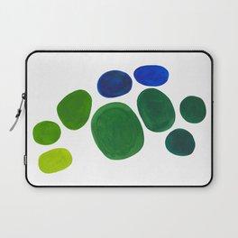 Mid Century Kusama Abstract Minimalist Colorful Pop Art Lime Green Blue Rainbow Ombre Gradient Laptop Sleeve