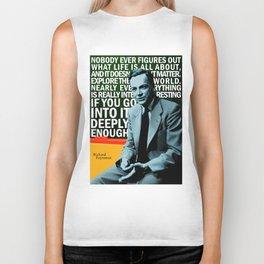 Richard Feynman Quote 1 Biker Tank