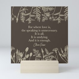 For where love is... Claire Fraser in Sepia Mini Art Print