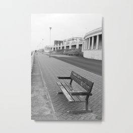 Old Wood Bench Metal Print
