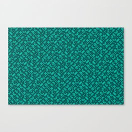 Control Your Game - Tradewinds Turquoise Canvas Print
