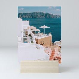 Suntanned   Santorini, Greece Mini Art Print