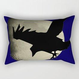 Raven Flying Across The Moon Rectangular Pillow