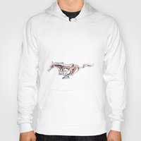 mustang Hoodies featuring Mustang..... by Wood-n-Images