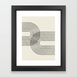 Arch duo 2 Mid century modern Framed Art Print