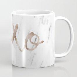 Rose gold marble XOXO Coffee Mug