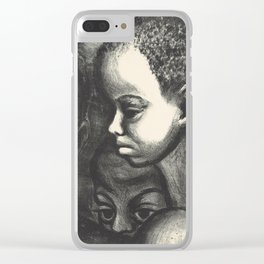 African American Art Clear iPhone Case